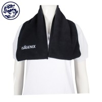 Design Black Fleece Scarf Embroidered Logo Psychology Mind Development Activity Scarf Maker