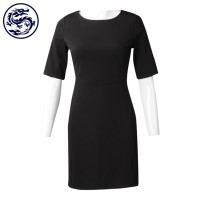design slim mid-sleeve straight dresses for women's fashion straight dresses manufacturers