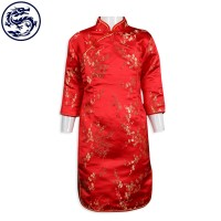 making children's red cheongsam children's clothing manufacturer