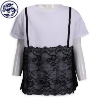 custom-made lace sling T-shirt children's clothing factory