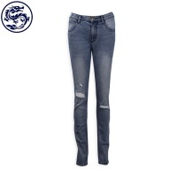 custom-made hole women's jeans Slim straight jeans manufacturer