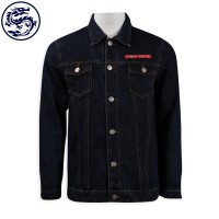 custom embroidery logo denim jacket denim manufacturer
