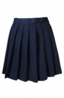 Design women's dark blue cheerleading pleated skirt