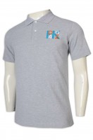 Order Polo shirt gray short sleeve Polo shirt