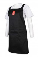 customized apron logo black apron