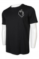 Online Single T-shirt Black Men's Short-sleeved