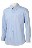 Tailor-made shirt tailor-made collar men's long sleeves clear color
