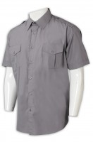 Men's shirts - tailored short-sleeved shirt double breast bag