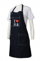 Denim apron with body apron customized embroidered logo