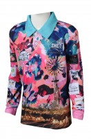 Customized men's wear sublimation to make long-sleeve sublimation
