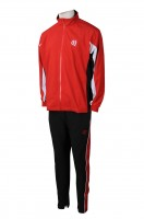 Fashion design red black school uniform sports suit
