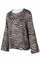 Custom Zebra Wide Sleeve Fashion Style