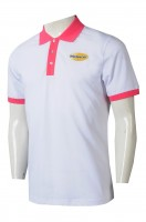 Custom white POLO shirt with short sleeves