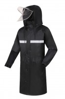 Order black reflective raincoats