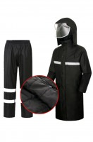 Online single reflective raincoat suit