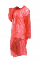 Manufacturing disposable hooded raincoats