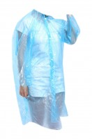Online ordering of one-off raincoats with hooded drawstring