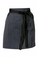 Making aprons for hotel waiters work striped aprons