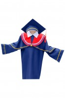 Custom-made graduation gown with doctor cap