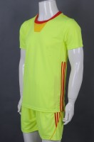 Manufacturing fluorescent yellow short sleeve suit sports group uniform