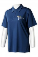 Manufacturing women's dark blue short sleeve Polo shirt