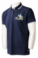 A large number of customized men's short-sleeved Polo shirts
