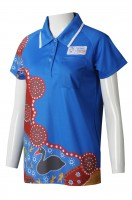 Thermal sublimation of short sleeves for women's wear