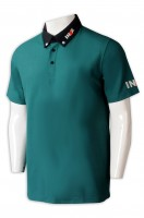 Manufacturing green men's short-sleeved POLO shirt