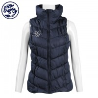 custom-made sleeveless down vest jacket high collar 100% nylon Australia HH down jacket store