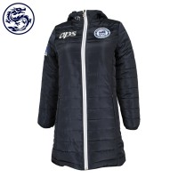 custom-made women's down jacket zipper custom made LOGO silver zipper 100% polyester Australia down jacket supplier