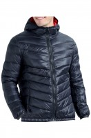 Customized thin hooded down jacket