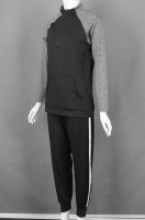 Order black and gray long-sleeved sports suits online