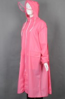 Custom-made pink long knee-length rain uniform