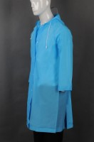 Custom-made blue hooded raincoat uniform