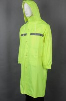 Custom-made rubber band hook and loop cuff rain jacket uniform
