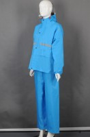Custom-made blue long-sleeved suit and rain uniform