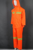 Order orange long-sleeved suit and rain coat uniform online